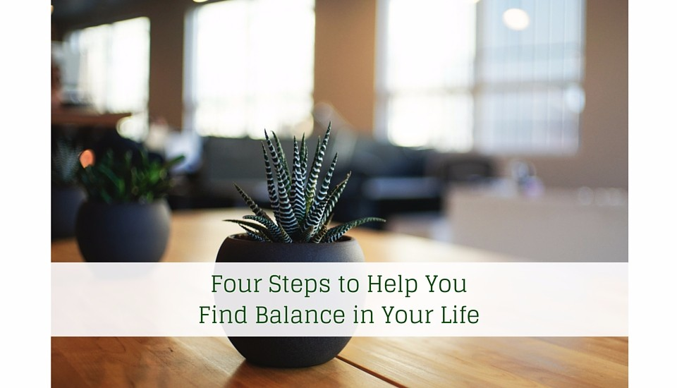 four steps to finding balance 1