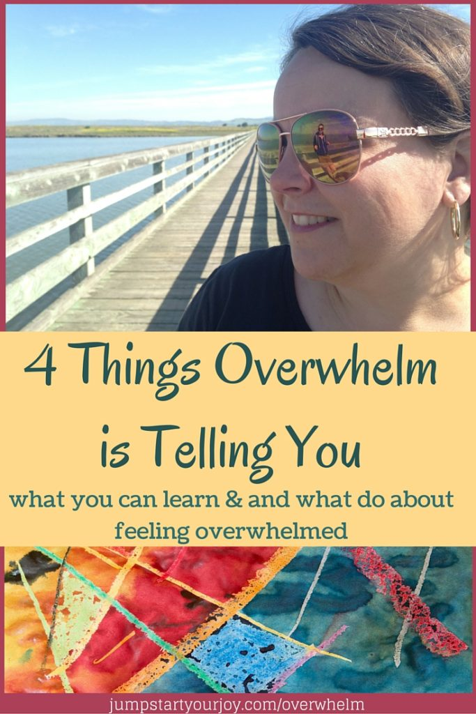 Four Things Overwhelm is Telling You - a great post and podcast about what to do when you feel overwhelmed. Click to read and pin for later!