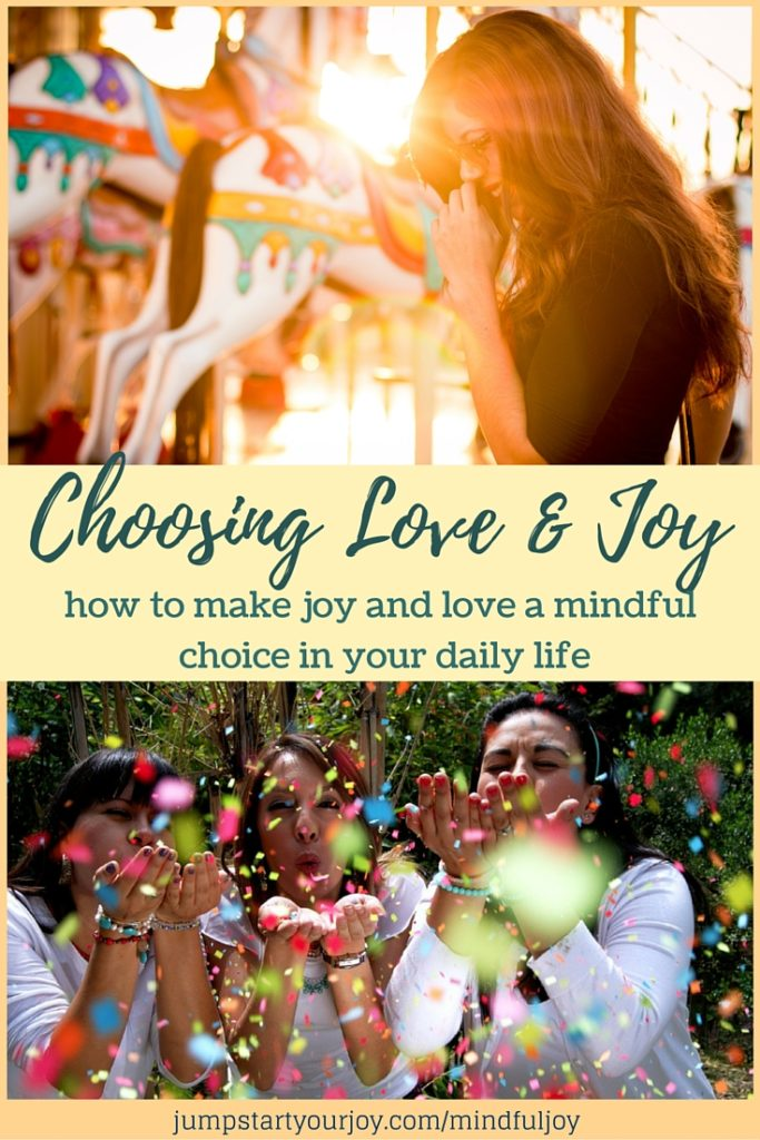 How to Mindfully Choose Love and Joy in Your Life: A great post on how to choose joy and make it a habit in your life including 5 steps. Click to read and Pin for later.