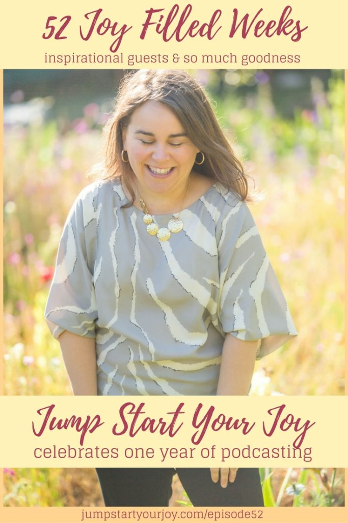 A year of joy, a highlight episode on jump start your joy looking at the most memorable moments of her first year of podcasting, Click to listen or pin for later. www.jumpstartyourjoy.com