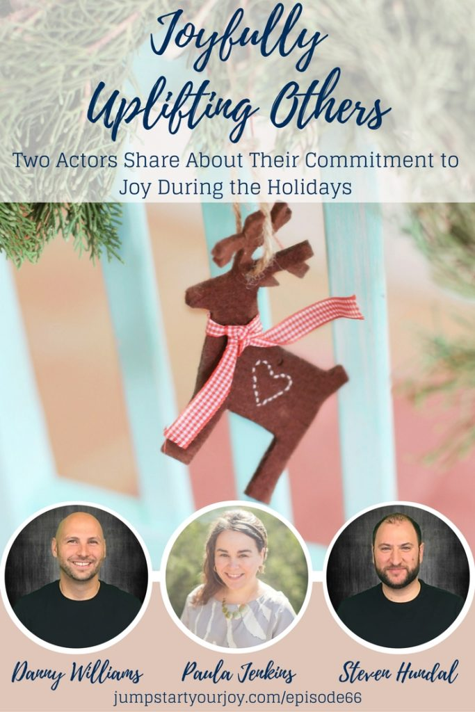 How do you uplift others during busy times? How do you prioritize things in your life? What happens to your commitments and family when things get busy, especially during the holidays? Join two actors on this podcast as they share about how they joyfully uplift others during the holidays. Pin to save and click to listen. www.jumpstartyourjoy.com
