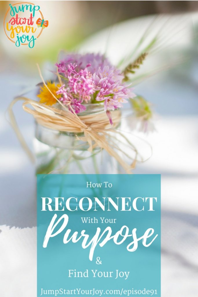 Wishing you could reconnect with your purpose and find your joy? This is a great podcast episode where host and coach Paula Jenkins shares 5 ideas on how to find your joy. www.jumpstartyourjoy.com/episode91