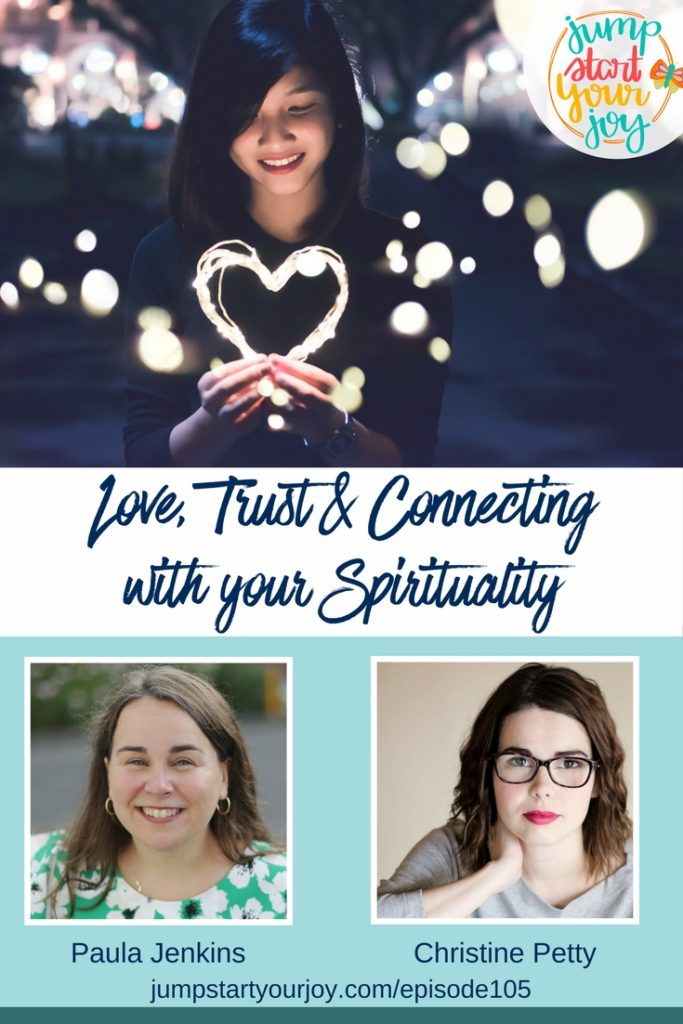 If you are curious about how to connect with your spirituality, or if you want to get back in touch with your own divinity and be religious on your own terms, you're going to love this interview with Christine Petty and Paula Jenkins. www.jumpstartyourjoy.com/episode105