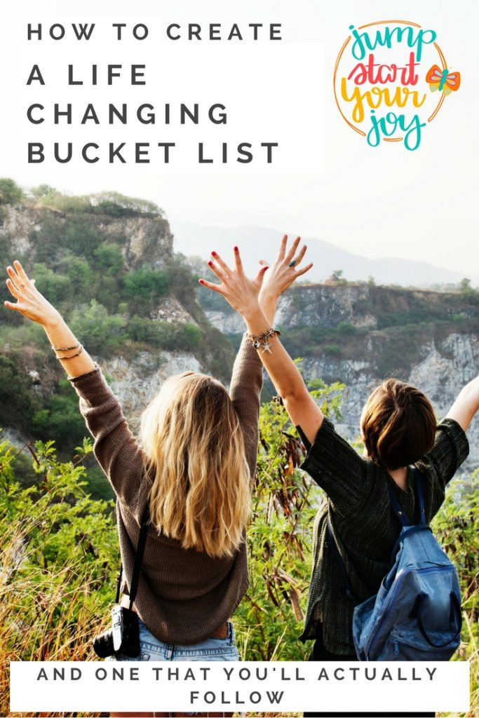 Learn how to set up a bucket list that is inspiring, meaningful and one that you will take action on. Podcast host Paula Jenkins does a great job of explaining the key things to consider when creating your bucket list. www.jumpstartyourjoy.com #bucketlist #podcast #inspiredlife