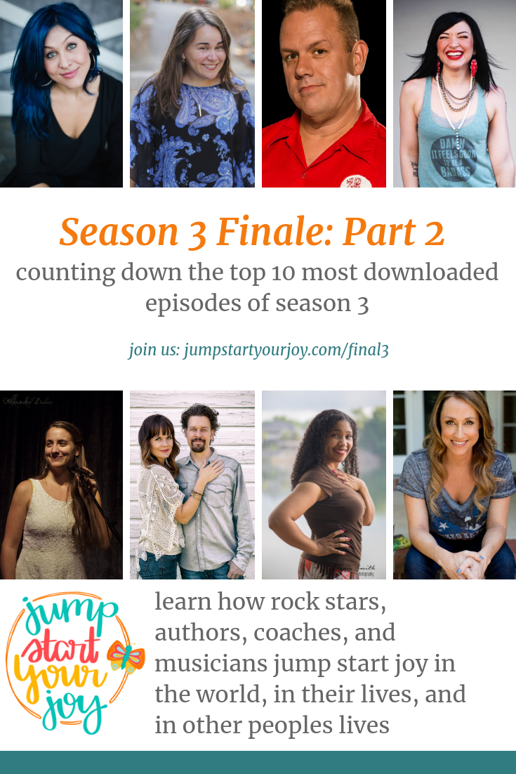 Catch the top 10 most downloaded episodes of season three on this inspiring and uplifting podcast. The host, Paula Jenkins, does a great job of sharing the highlights of each episode. #joy #inspiration #podcast