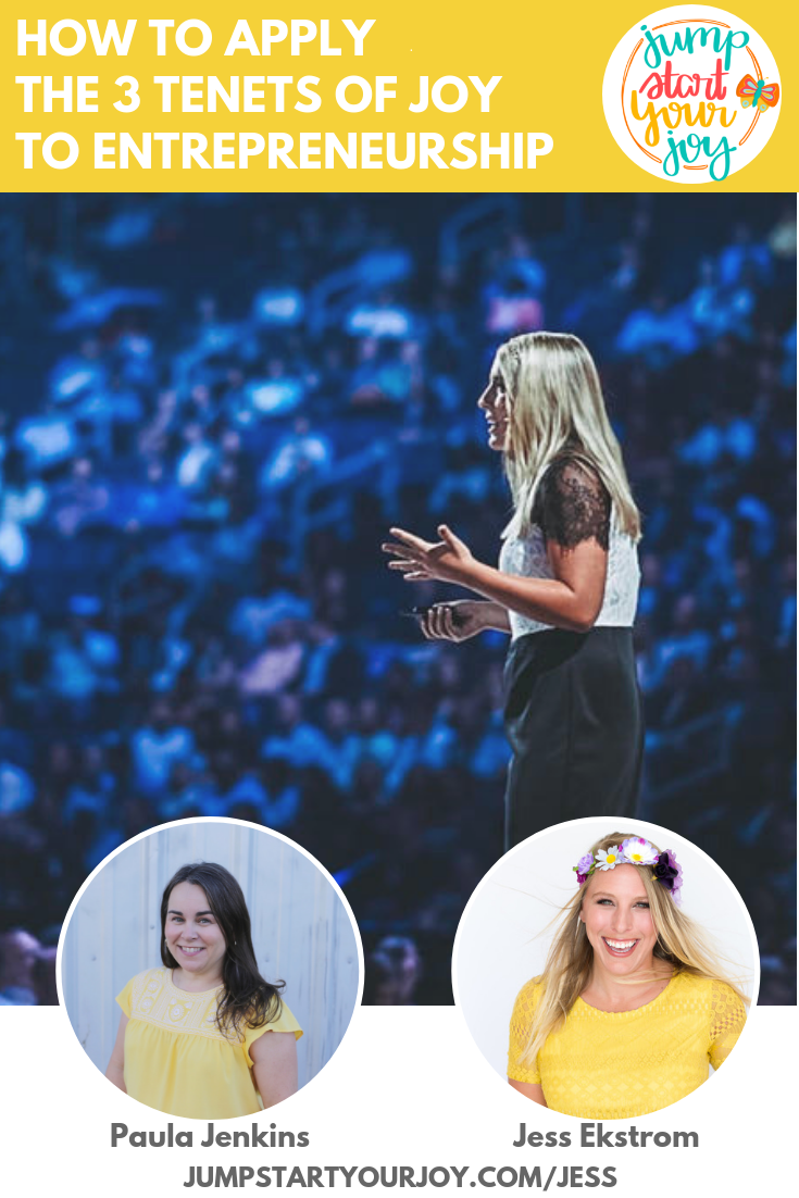 Join host Paula Jenkins and Jess Ekstrom, CEO of Headbands of Hope, as they discuss the tenets of joy, entrepreneurship, and how you can spark joy in your own life! #podcast #joy #entrepreneur