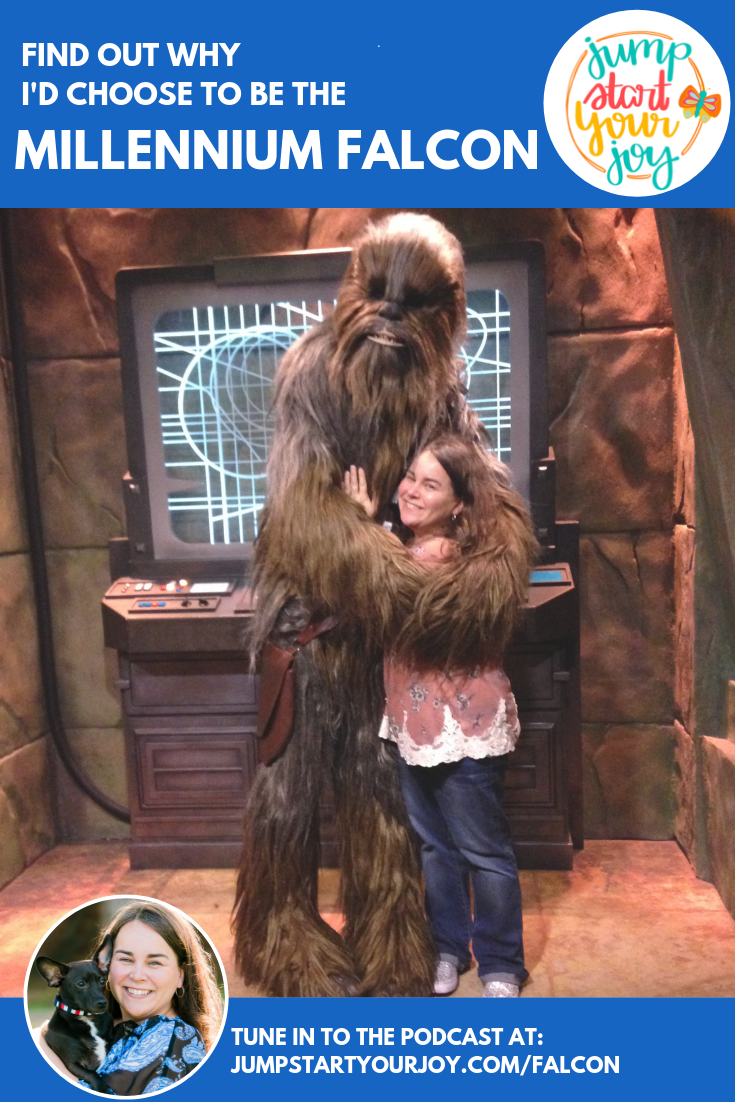 Find out why podcast host Paula Jenkins would choose to be the Millennium Falcon out of all the spaceships in the galaxy! #podcast #millenniumfalcon #starwars