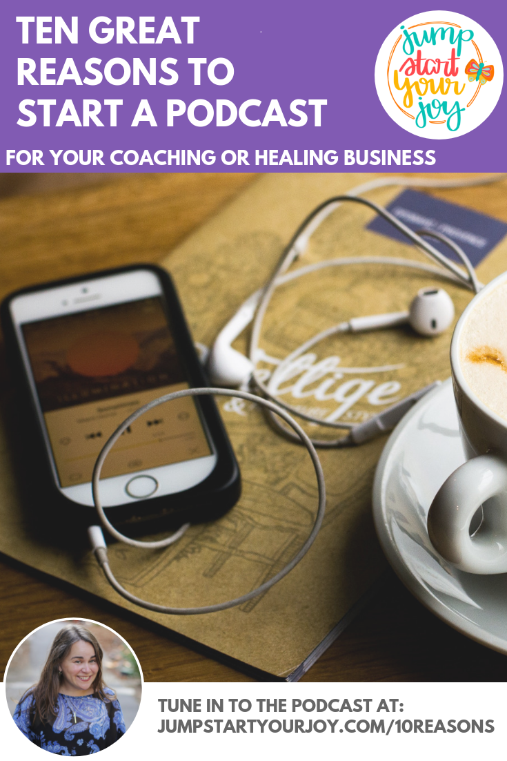 Join host Paula Jenkins as she shares her ten great reasons to start a podcast for your small business. #podcast #entrepreneur #smallbusiness
