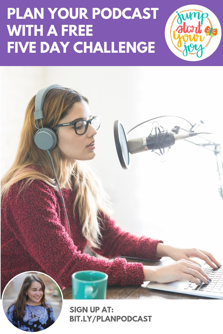Plan your own podcast using this Plan Your Podcast Challenge by podcaster Paula Jenkins. It's a great, free resource!