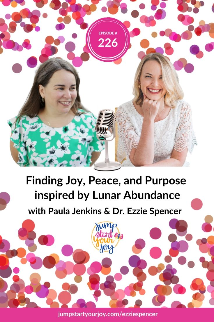 """You can find joy, peace, and purpose by using the moon and it's phases as an example of how to have both """"doing"""" and """"being"""" time for yourself. Listen to this great interview with Dr. Ezzie Spencer, author of Lunar Abundance to find out how."""