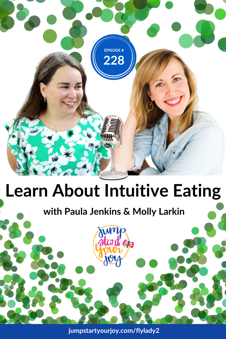 Coach Molly Larkin joins host Paula Jenkins this week, and she's sharing all about intuitive eating, and how you can build a healthy relationship with food. #podcast #joy #healthy
