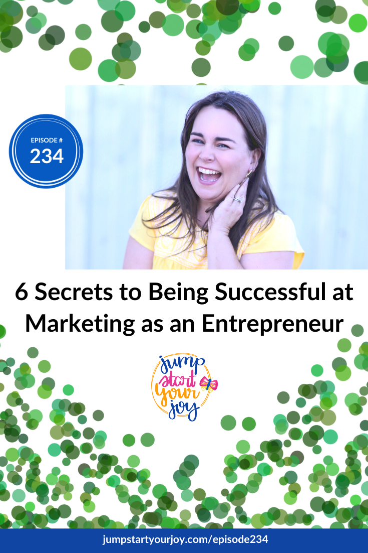 Host Paula Jenkins shares how she found her way to the joy of marketing with 6 tips! #podcast #marketing #entrepreneur