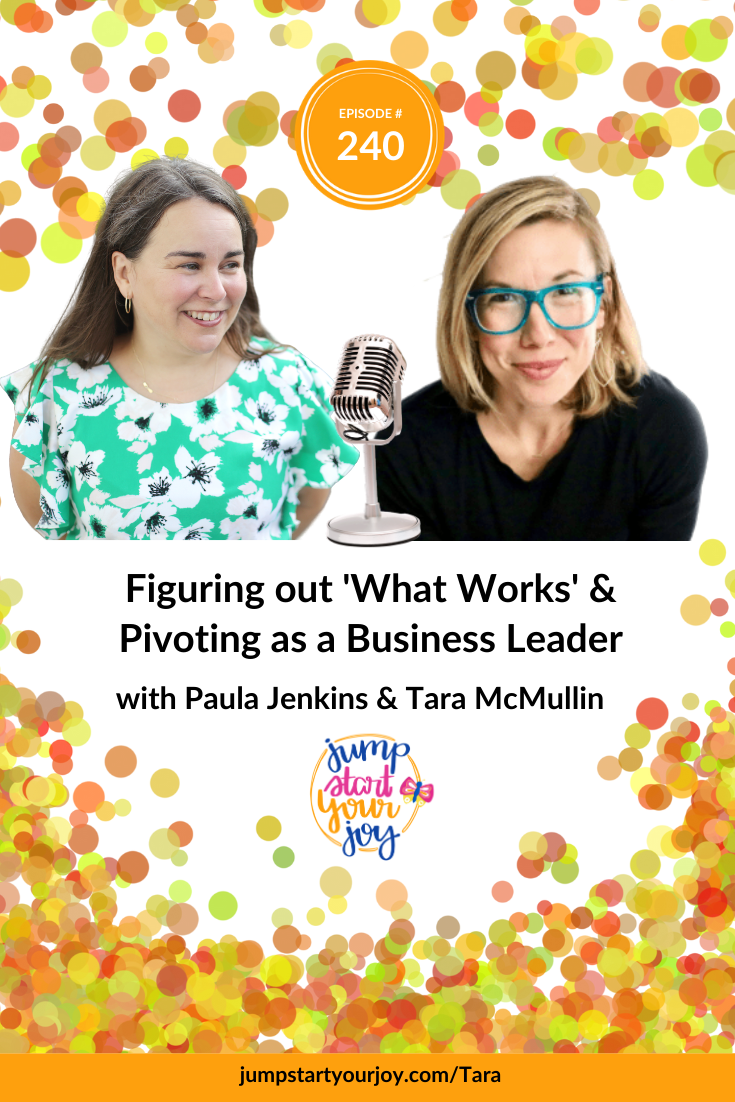 I loved talking to Tara how she has shifted, over the past few years, into a new way of leading in her own business. #podcast #joy #entrepreneur