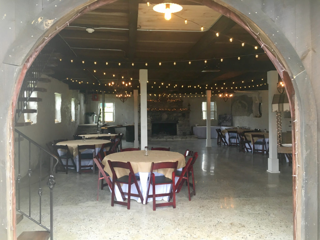 Cocktails in the barn