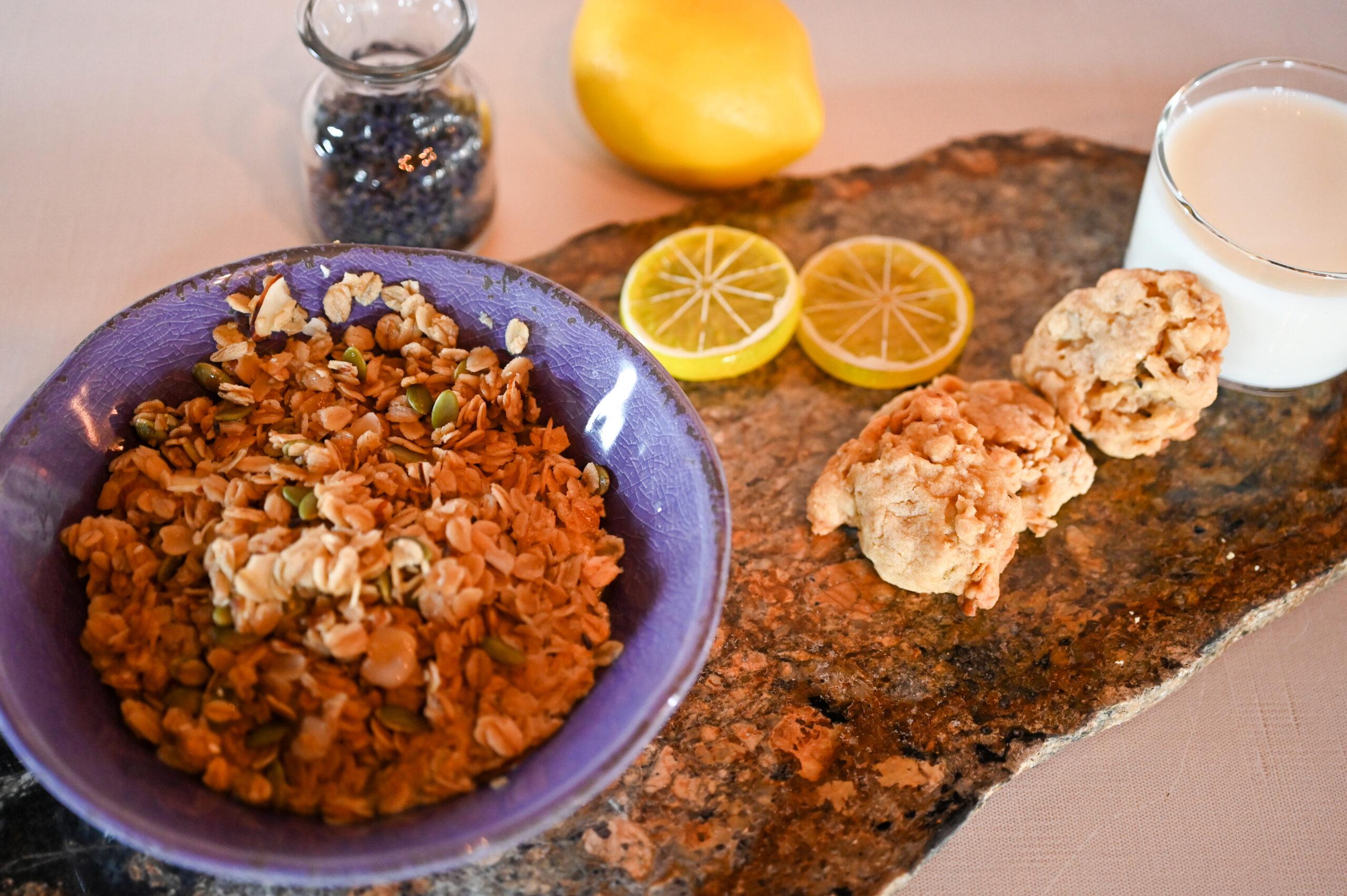 Delicious Lavender Granola Cookies