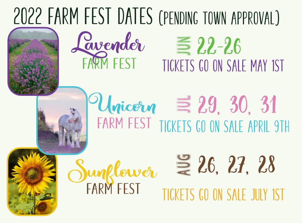 2022 Farm Fest Dates