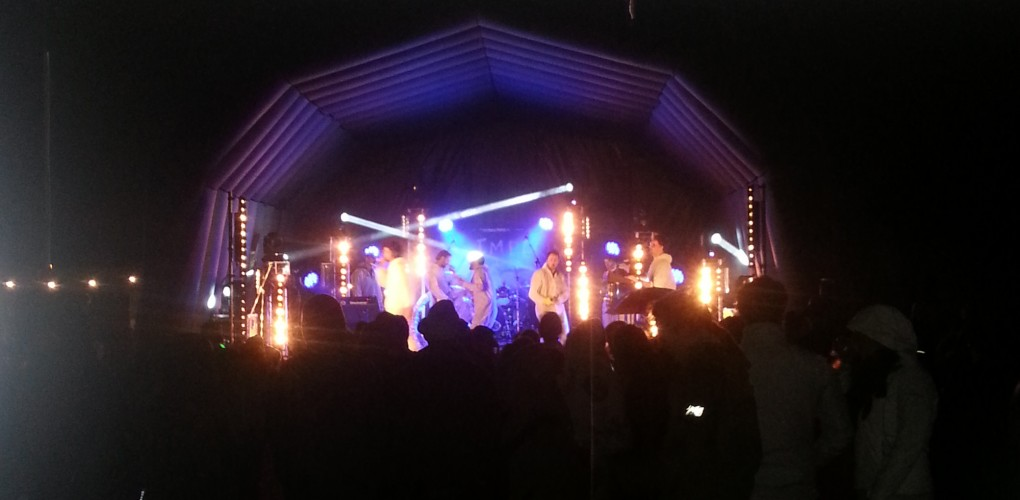 9m x 8m x 5m Inflatable Stage At Night