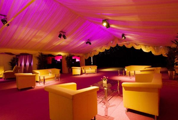 Private Party With Furniture And Effect Uplighting