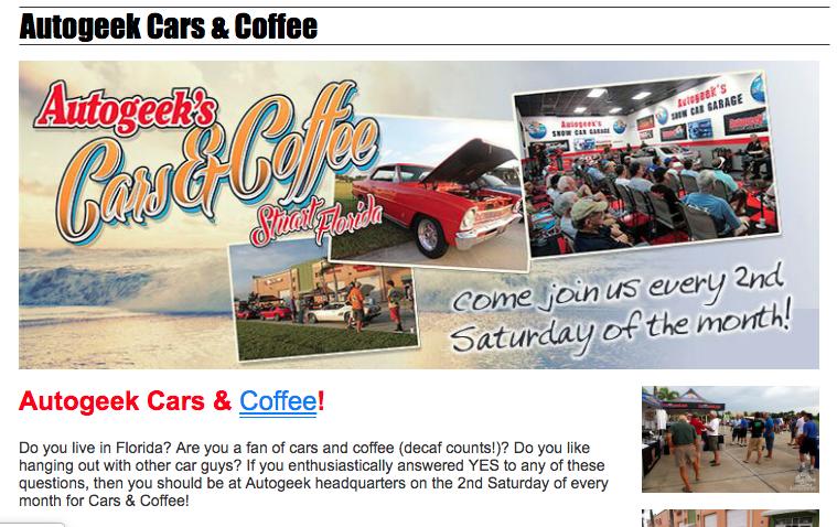 Autogeek Cars & Coffee @ The Elliott Museum
