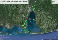 Hydrophone locations in Alabama