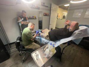 Randy Leg Tattoo