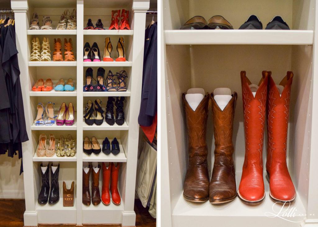 shoe organizer , dallas blogger, over 50 blogger, closet organizer