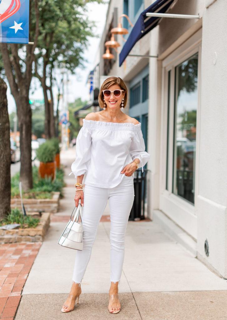 shopping my closet- date night whites