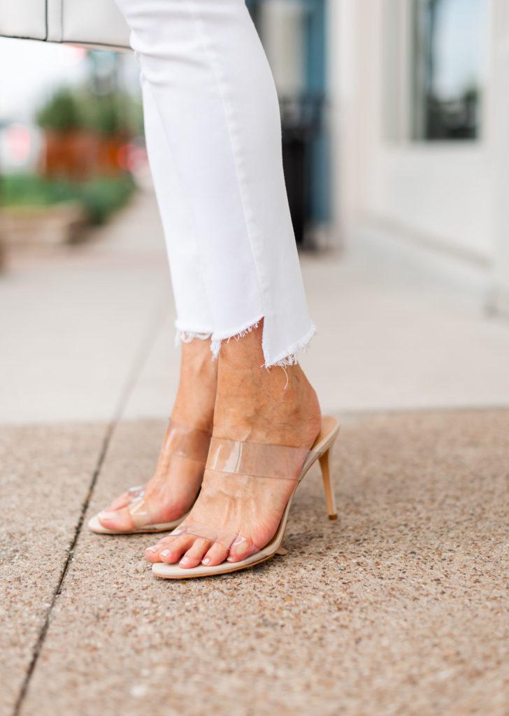 clear sandals from Schutz