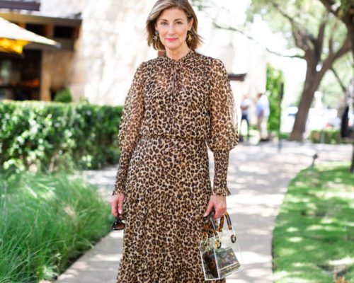 LEOPARD DRESSES FOR FALL ON OVER 50 BLOGGER