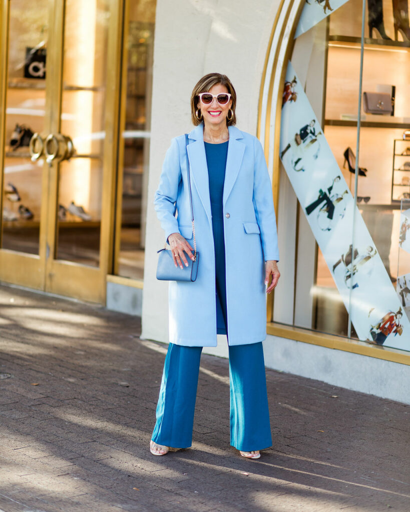 Spring coats in blue for Easter season