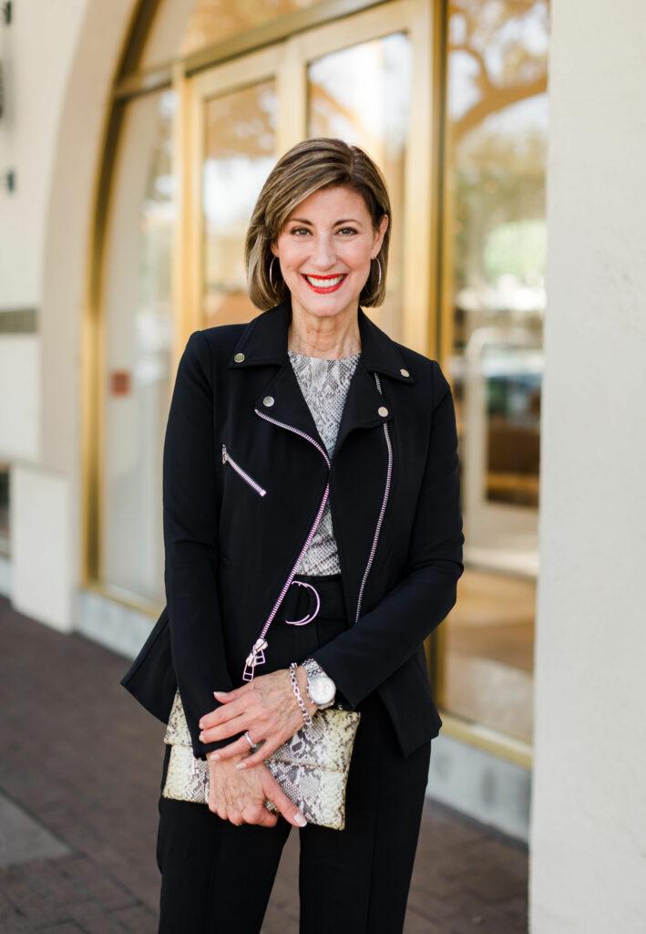 Snakeskin trend on Dallas blogger
