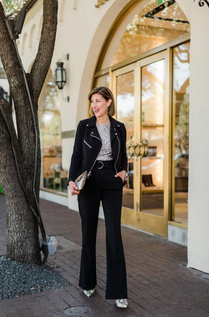 ALC wide leg pant on over 50 blogger