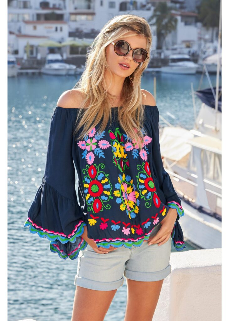 Fashionomics Summer Faves embroidered top