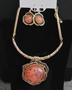 Antique Gold/Orange Necklace