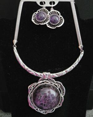 Antique Silver/Purple Necklace