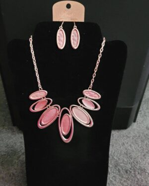 Rose Gold/Pink Fashion Choker Necklace