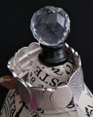 Worn Silver Metal Stretch Bracelet