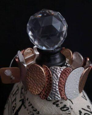 Multi Metal Stretch Bracelet
