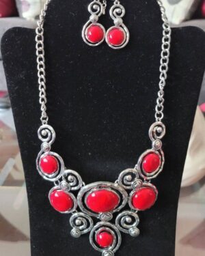 Red/Silver Necklace