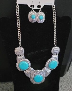 Antique Silver/Turquoise Necklace 2