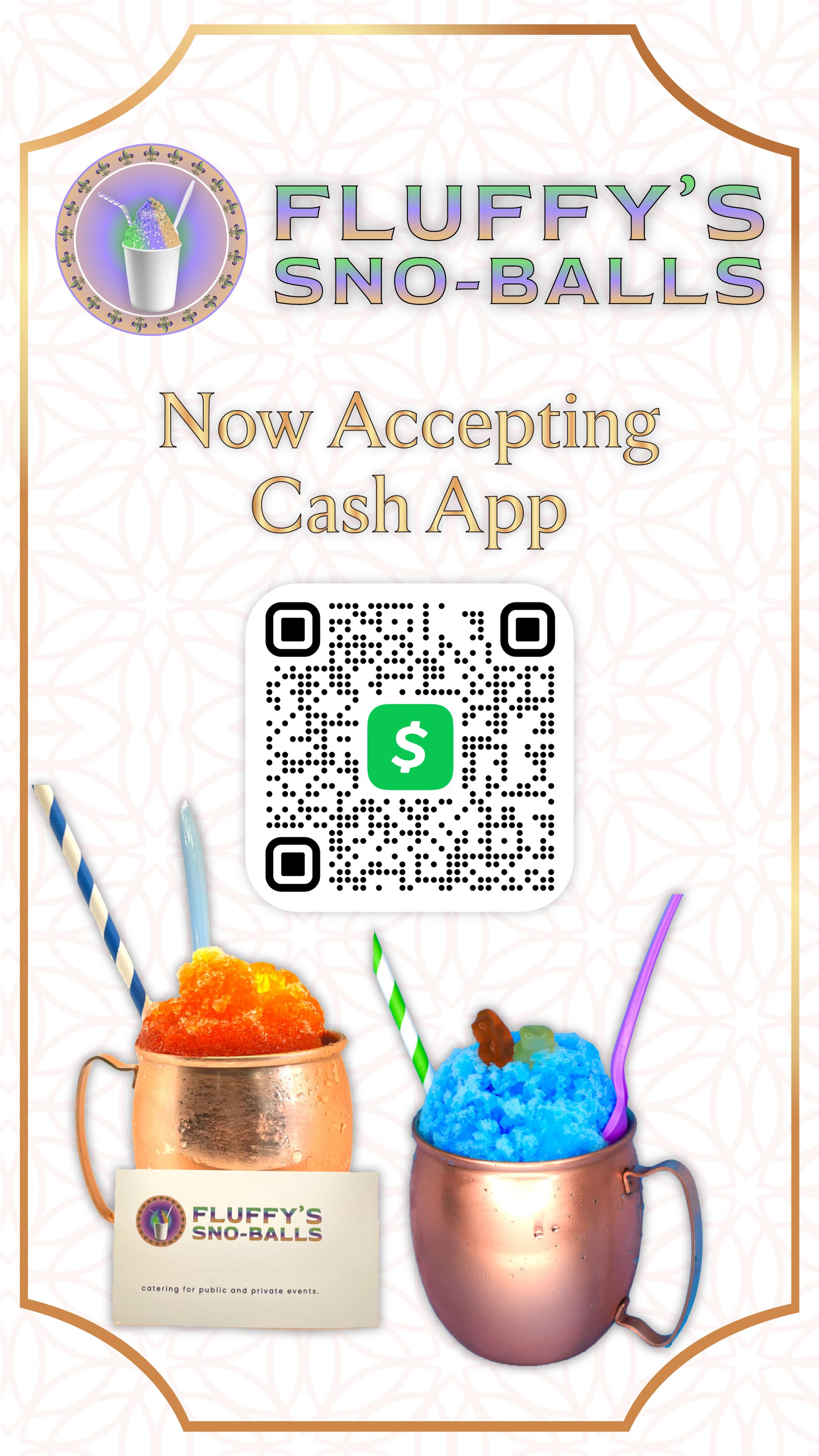 Fluffys - Cash App Standee