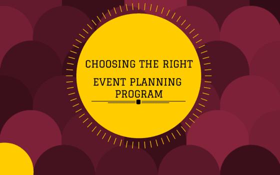 Choosing the Right Event Planning Program