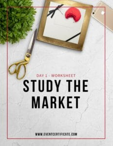 market research worksheet for event planners