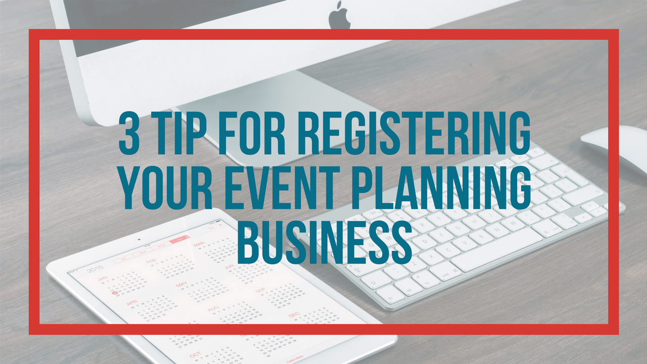 register your event planning business