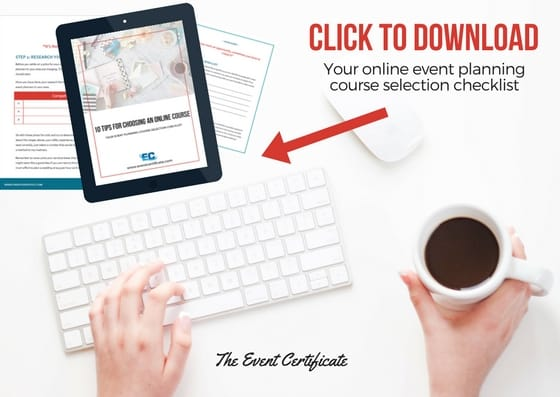 online course review checklist certification event planner