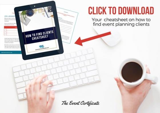 Find event planning Clients Cheatsheet