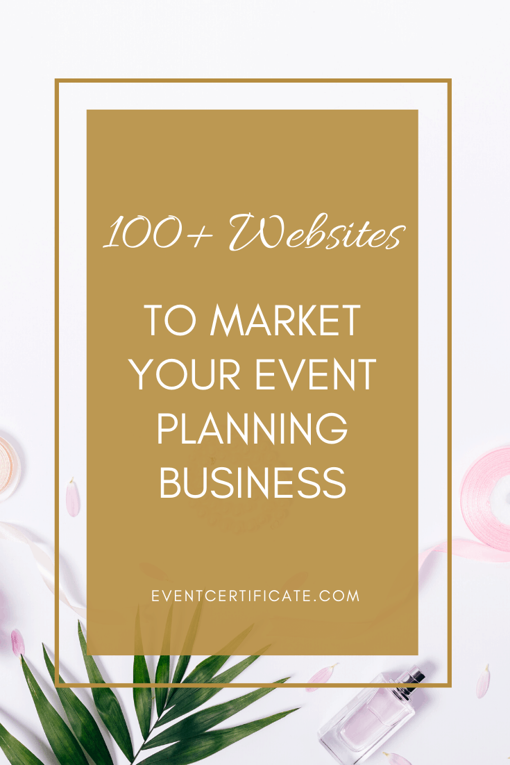 100 websites to market your event planning business