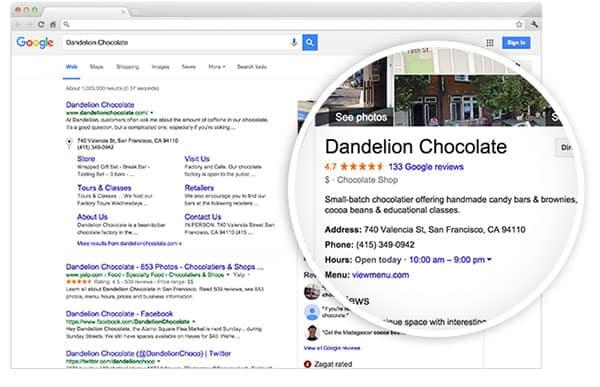 event planning website google business listings