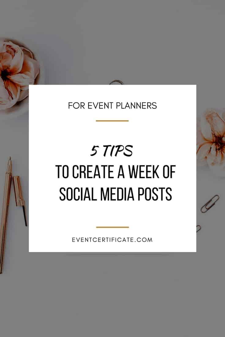 week of social media posts
