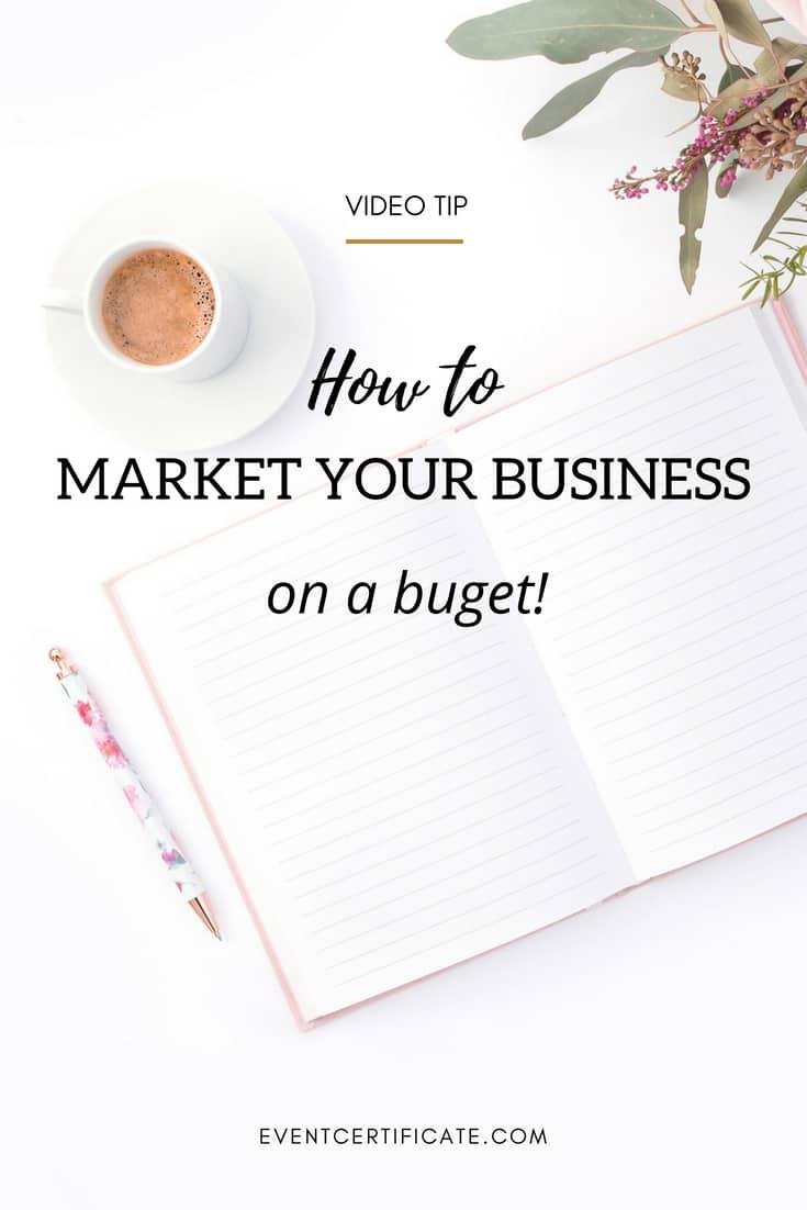 market your event planning business pinterest